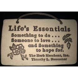Life's Essentials Natural Stoneware Plaque